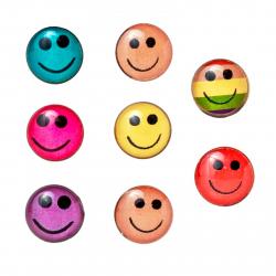 8er Set Ohrstecker Smiley