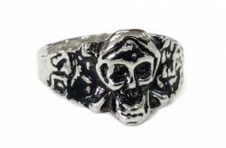 Totenkopf mit Knochen Ring