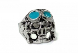 Totenkopf mit Brille Ring