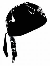 Biker Bandana Cap - Schwarz mit Totenkopf