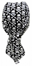 Biker Bandana Cap - Totenköpfe mit Knochen
