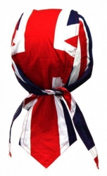 Fitted Bandana Cap Biker - Union Jack