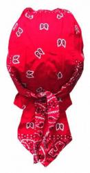 Biker Bandana Cap - Rot Weiß Paisley