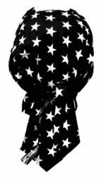 Biker Bandana Cap - Schwarz Sterne