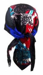 Rocker Bandana Cap - Adler Schwarz Blau