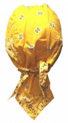 Rocker Bandana Cap - Paisley Gelb Weiß