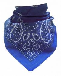 Rocker Bandana Paisley Muster Blau