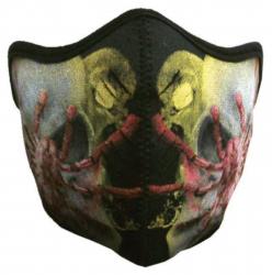 Biker Maske Spinne und Totenköpfe