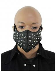 Biker Maske mit Spitzen und Ösen Nieten