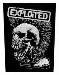 The Exploited Vintage Skull Backpatch