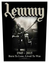 Lemmy Lived To Win Rückenaufnäher
