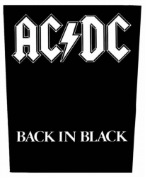 AC/DC Back In Black Backpatch