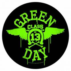 Green Day Neon Wings Rückenaufnäher