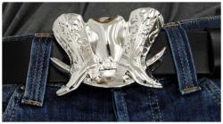 Gürtelschnalle Cowboy Stiefel
