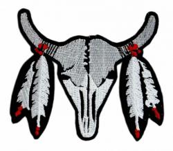 Aufnäher Indianer Büffel