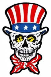 Iron on Patch American Skull Biker