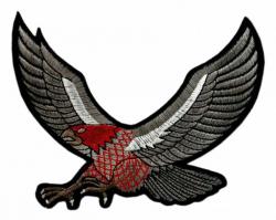 Aufnäher Dunkelgrauer Adler