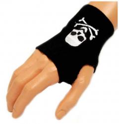 Schwarze Handstulpe Skull | 002