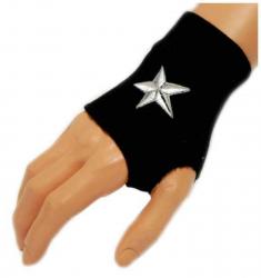 Schwarze Handstulpe Star | 003
