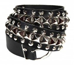 Leather Belt Pyramid & Pointed Studs