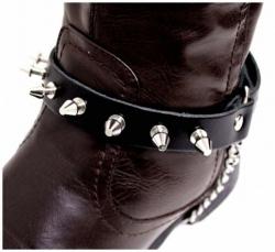 Schwarze Stiefelbänder mit Killernieten