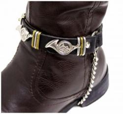 Schwarze Stiefelbänder mit Instrumentennieten