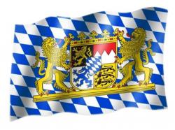 Fahne Bayern Wappen