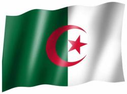 Fahne Algerien