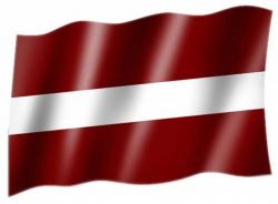 Fahne Lettland