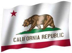 Fahne Kalifornien