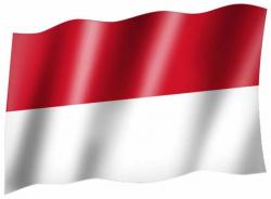 Fahne Indonesien