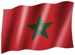 Fahne Marokko