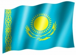 Fahne Kasachstan