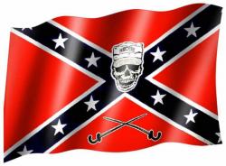 Fahne Südstaaten Totenkopf