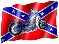 Fahne Südstaaten Motorrad