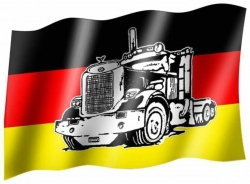 Flag Germany truck