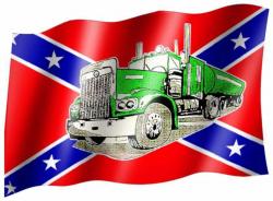 Fahne Südstaaten LKW