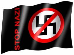 Fahne Stop Nazi