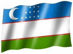 Flag Usbekistan