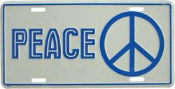 Blechschild Peace - 30cm x 15cm