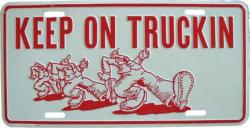Tin Sign Keep on truckin - 30cm x 15cm