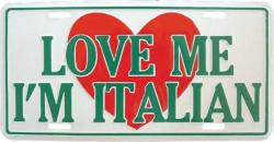 Blechschild I\'m Italian - 30cm x 15cm