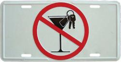 Blechschild No alcohol - 30cm x 15cm