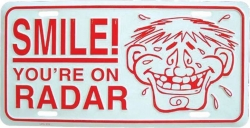 Blechschild Smile! - 30cm x 15cm