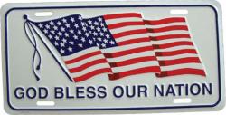 Tin Sign God bless our nation - 30cm x 15cm