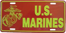 Tin Sign US Marines - 30cm x 15cm