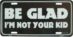 Blechschild Be glad - 30cm x 15cm