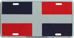 Blechschild Dominikanische Republik - 30cm x 15cm