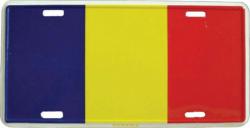 Blechschild Rumänien - 30cm x 15cm