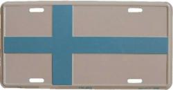Blechschild Finnland - 30cm x 15cm
